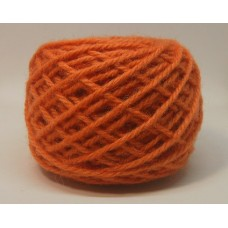 CARROT  #61, Wool rug yarn, Orange