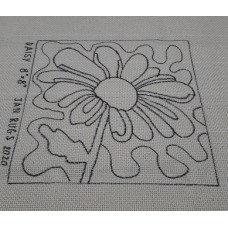 Rug Hooking Pattern on Monks Cloth - DAISY
