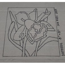 Rug Hooking Pattern on Monks Cloth - DAFFODIL