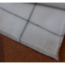 """Canvas Backing for Rug Making, Strong and Durable. Polyester. 14"""" x 14"""". Rug hooking, Punch needle, Tufting. Serged Edges"""